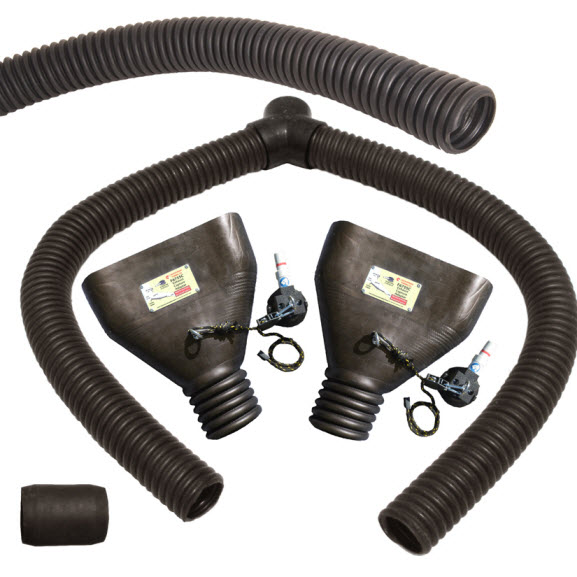 "F1550 Oval/twin Pipes up to 2.5"" x 15"" Fits 3"" and 4"" Hose"