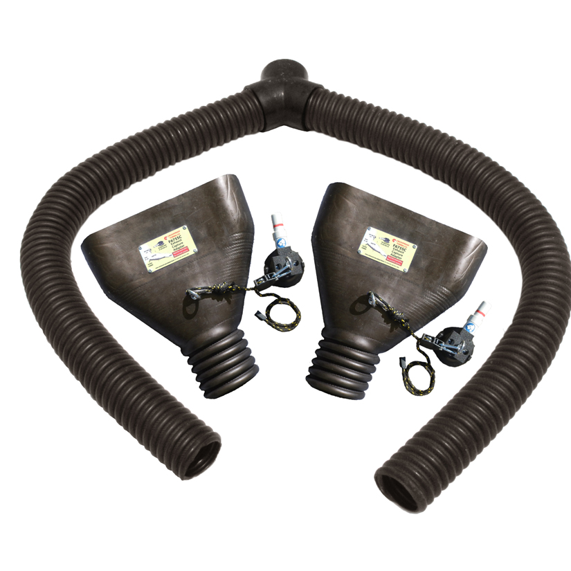YA675-SC Adapters Used for vehicles with Dual Flush Mount Tailpipes