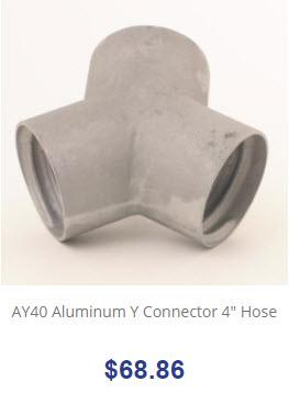 AY40 Aluminum Y Connector